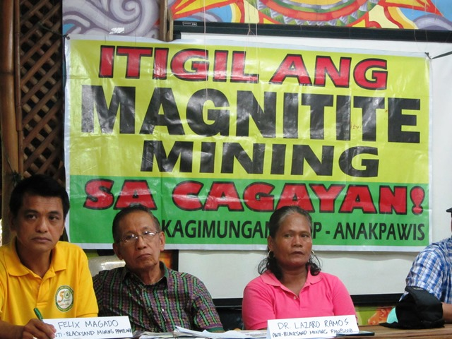 Community leaders from Cagayan explain why large-scale magnetite mining is dangerous to environment, livelihood