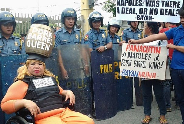 Napoles mum during senate hearing, urged to speak for her safety