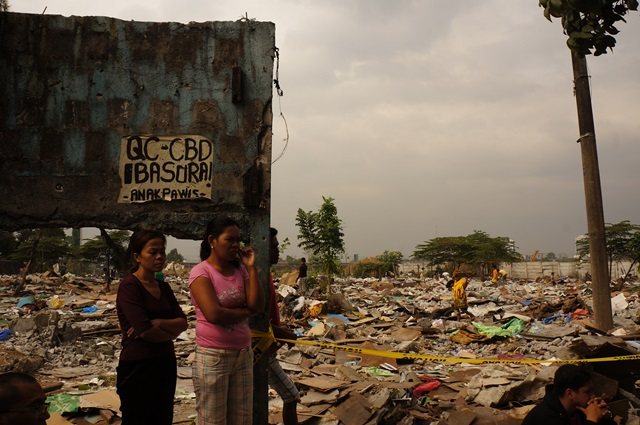 Homes were demolished to give way to the Quezon City Central Business District. (Photo by J. Ellao / Bulatlat.com)