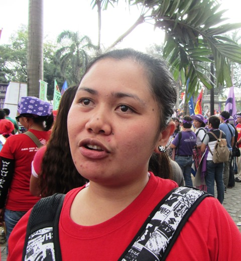 Anaya, an NXP production operator for 3 years now, shares the development (or lack of it) in their current negotiation for a new CBA. (Bulatlat March 8 File Photo)