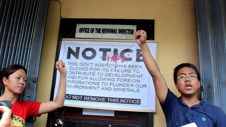Environmental activists declare Mines bureau 'closed'