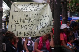 Baguio vendors urge gov't to respect right to livelihood