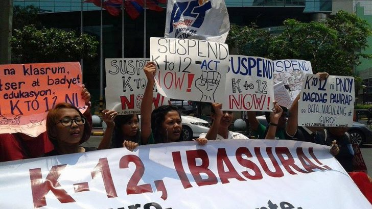 'K to 12 worsens contractualization' – ACT Teachers' Party