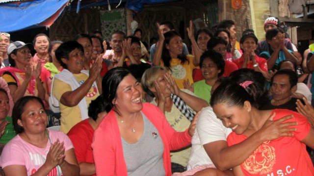 Women workers rejoice at the news of settlement. (Photo release by KMU-Southern Mindanao)