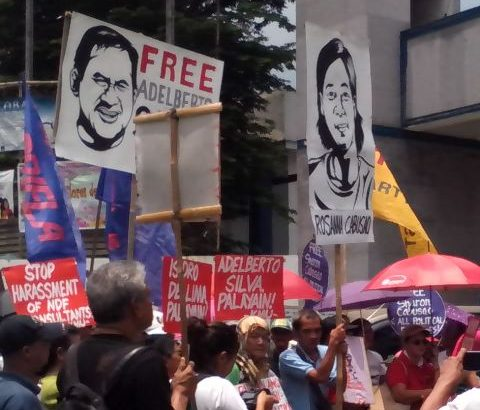 KMU, Gabriela picket Crame for political detainees' release