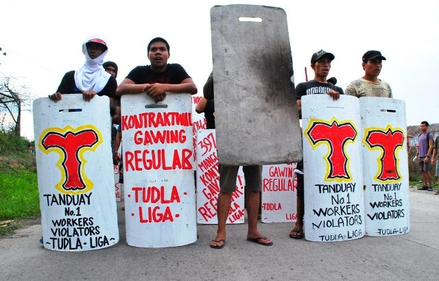 Tanduay strikers persist in fight for regularization despite harassment