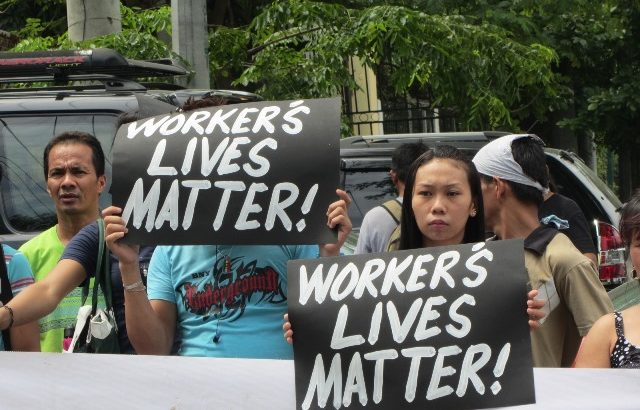Kentex workers, relatives troop to Ombudsman to push call for justice