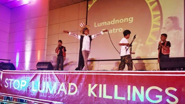 The Lumadnong Teatro from Caraga region performs at the concert Ka-loob (Photo by Kilab Multimedia)