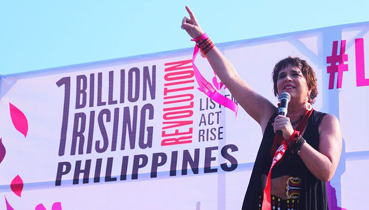 #OneBillionRising in Manila | Eve Ensler demands justice for Filipino women