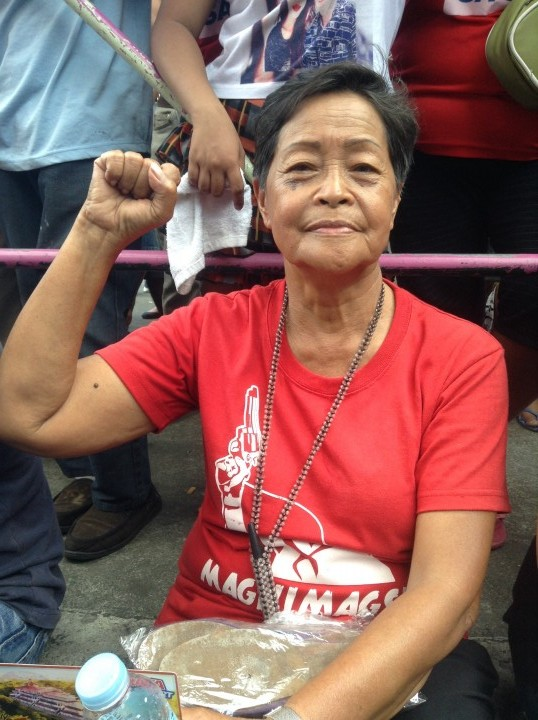 Ka Nitz Gonzaga says she was detained for four months during martial law. (Photo by J. Ellao / Bulatlat.com)
