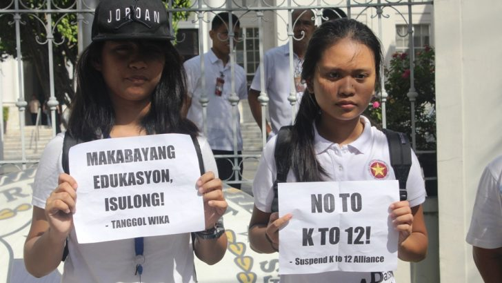 Groups dismayed over SC dismissal of K to 12 petitions, call for People Power