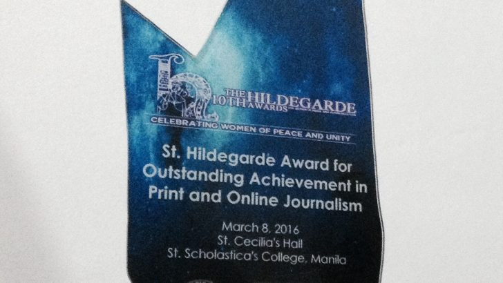 Bulatlat wins in 10th Hildegarde awards
