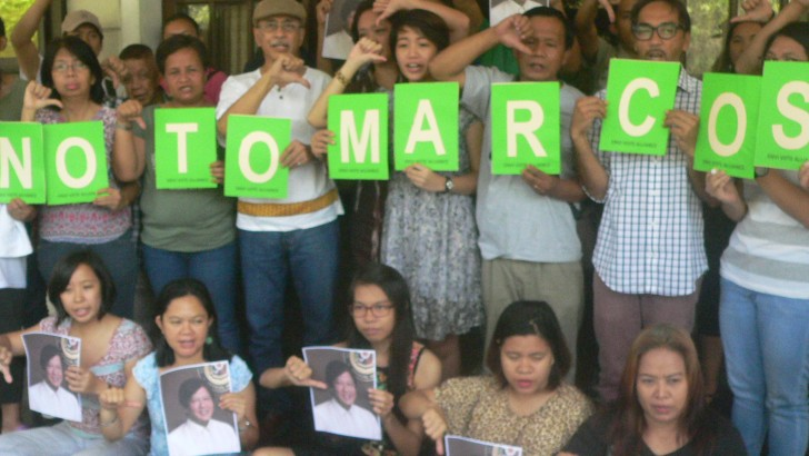 Environmental advocates against the return of the Marcoses to Malacañang