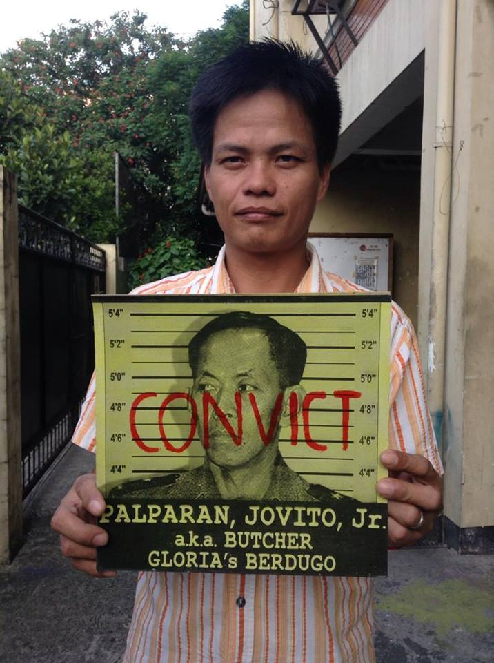 Torture survivor wants Palparan jailed for ordering his abduction, torture and illegal detention (Photo by J. Ellao / Bulatlat.com)
