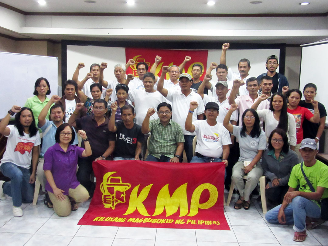 Leaders of Kilusang Magbubukid ng Pilipinas from all over the country pledge to continue fighting for genuine agrarian reform. (Photo by Miko Mendizabal / Bulatlat)