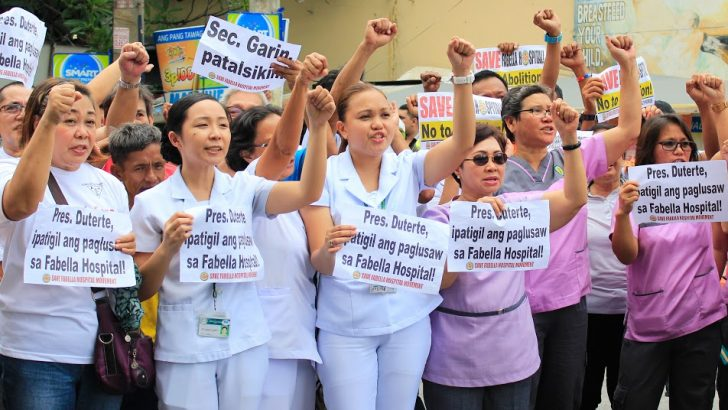 Protesters hold vigil on last day of Fabella Hospital