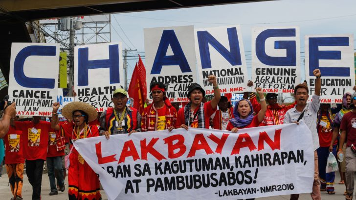 Manilakbayan marches again, this time for the first Mindanaoan President's SONA