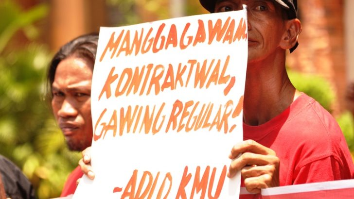 Workers present concrete measures to end contractualization