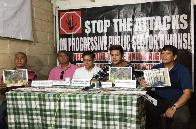 Emmanuel Mulawan Jr. (seconf from right) appeals to President Rosrigo Duterte to look into his father's case and immediately release him from prison. (BULATLAT PHOTO)