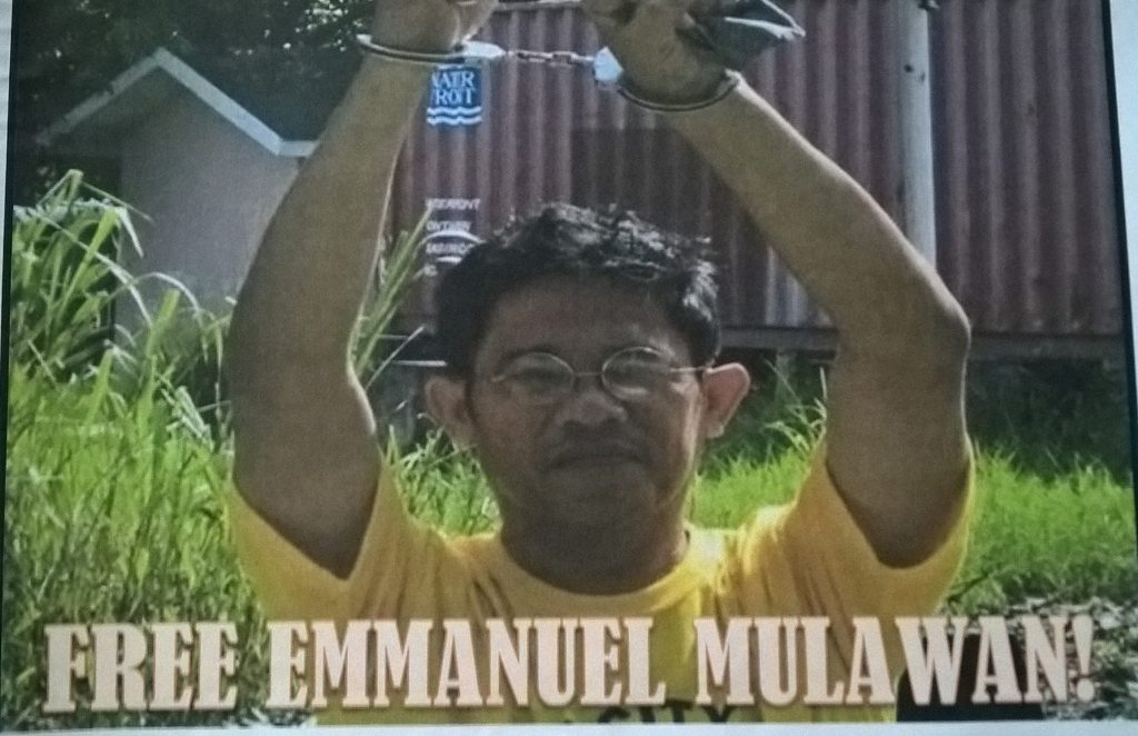 Emmanuel Mulawan Sr. in Cavite Jail. (Photo from COURAGE Facebook page)