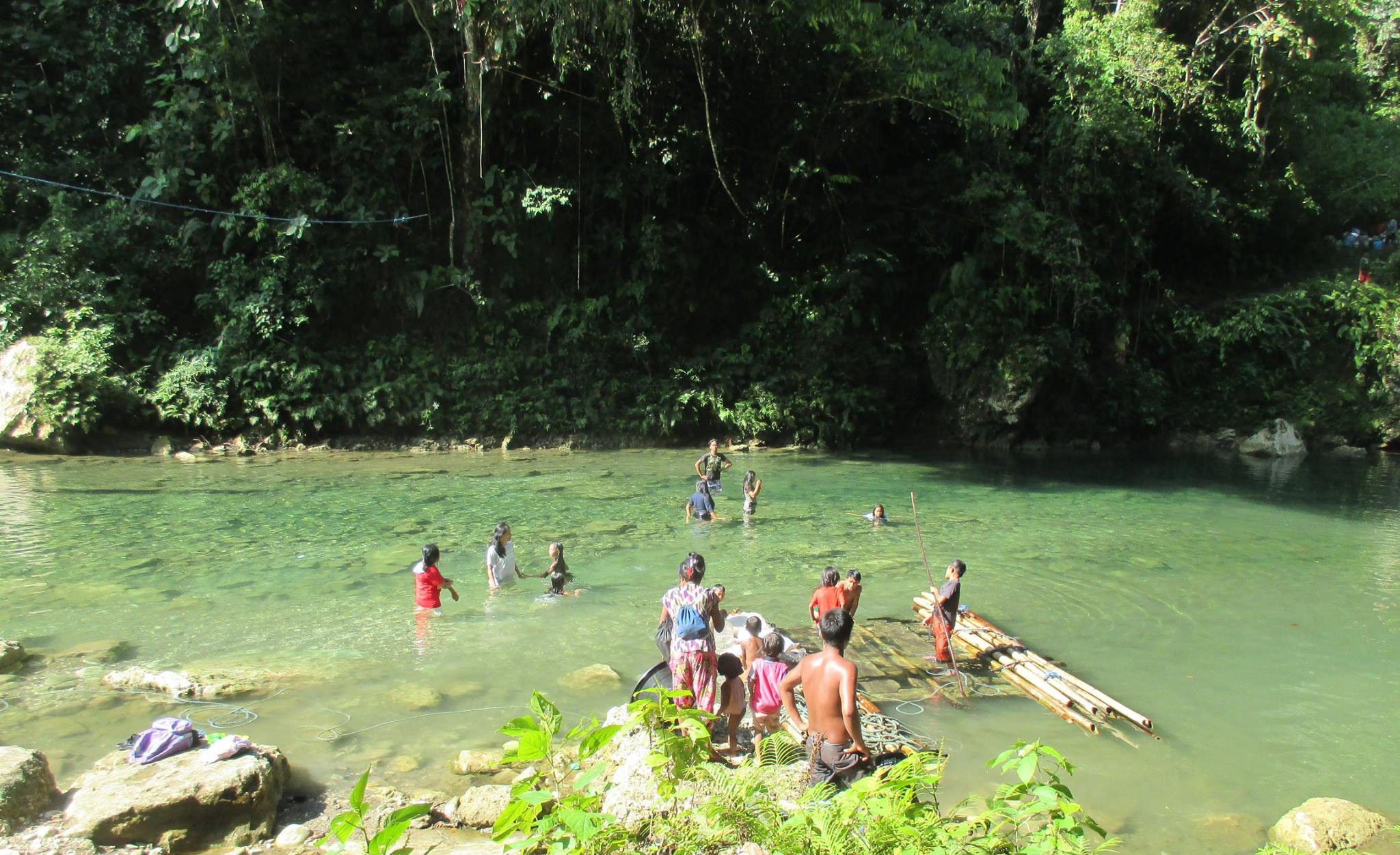 rivers that flow through the Lumad lands were thoroughly missed by its people during the first week of their reclaiming of their ancestral domain. (Photo courtesy of Alcadev)