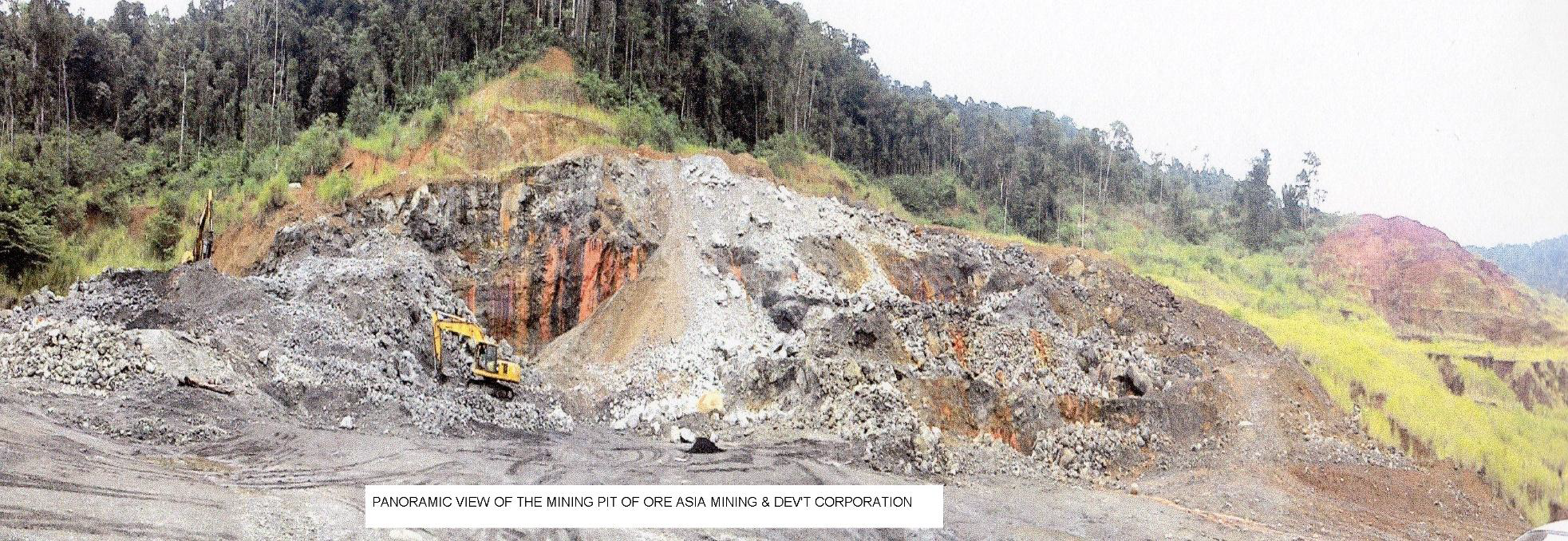 Site of Orea Asia Mining and Development Corp. in Bulacan (Photo from DENR website)