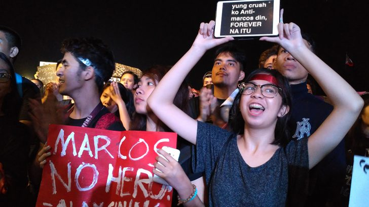 Millennials, rights activists never 'moving on' from Marcos' sins till justice is served