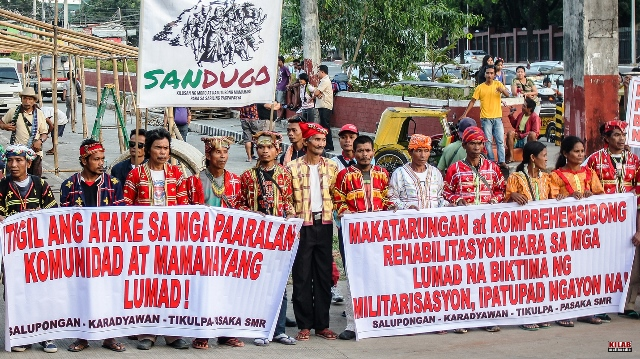 Lumad hold vigil in Manila for peace, relief & rehab