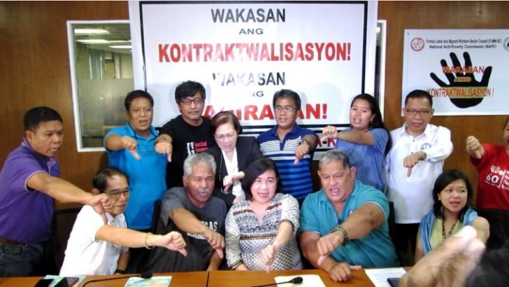 Labor groups support NAPC in seeking Duterte's EO vs contractualization