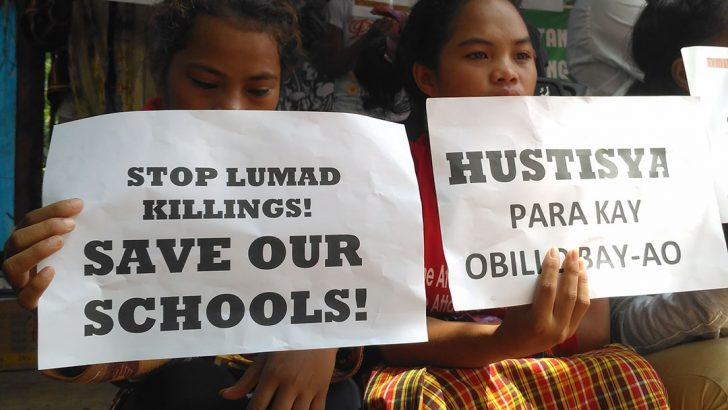 Groups hold Duterte accountable for death of Lumad student in Davao del Norte