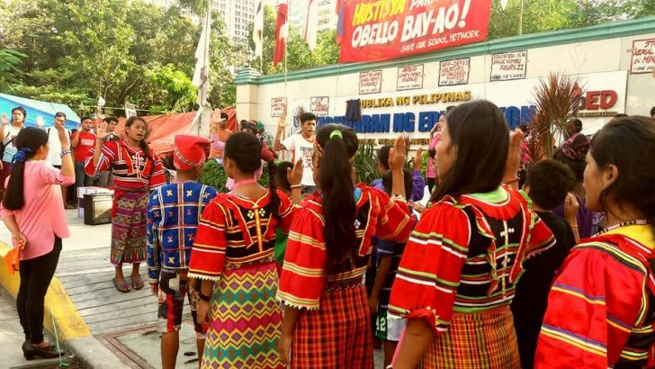 Lumad students ask DepEd to stop attacks on schools