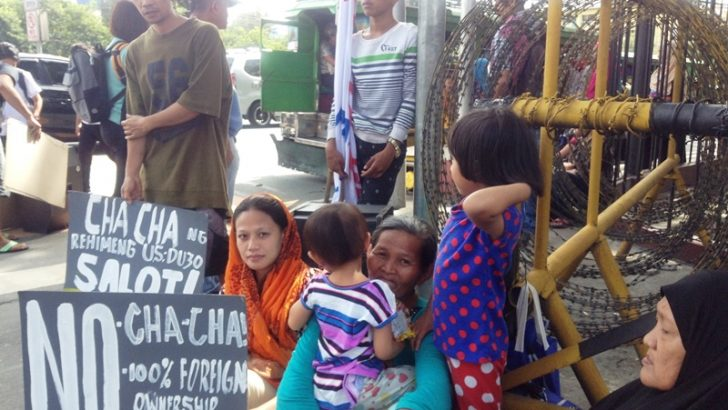 Protesters of TRAIN, Duterte's cha-cha to House of Representatives: 'Pity our children'