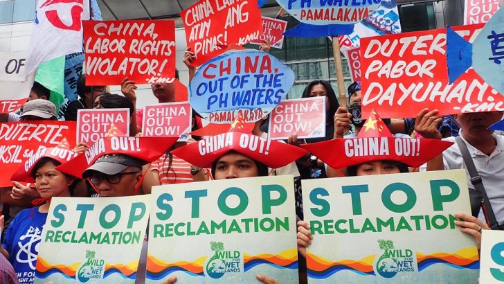 Groups protest continuing invasion of China in West Philippine Sea