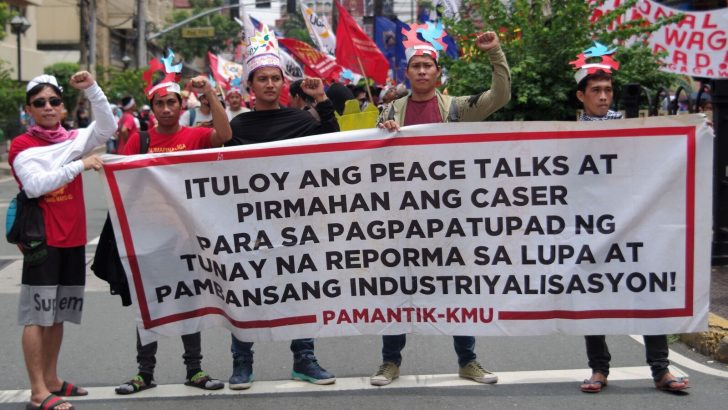 Labor groups storm the streets against contractualization