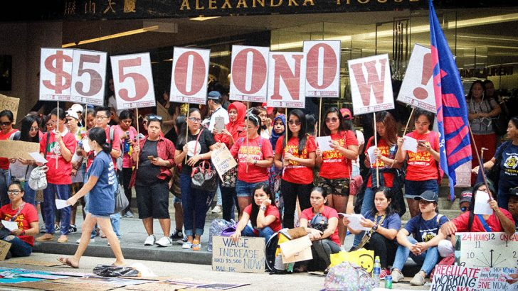 Domestic workers in Hong Kong insulted by 'measly' wage, food allowance hike