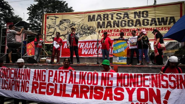 Workers from Laguna join nationwide protest against 'unfair labor practices'