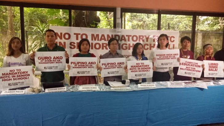 Youth, teachers, child rights advocates unite against mandatory military training