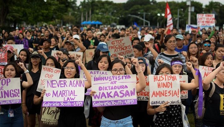 Martial law activists pass on the torch of struggle to today's youth