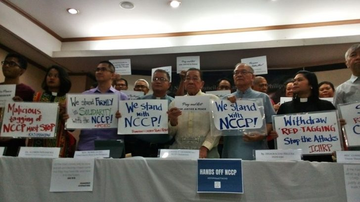 Church groups stand united amid NCCP red-tagging