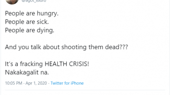 Celebrities voice out dismay over Duterte's ��Shoot them dead' statement, call out NBI's summoning of Vico Sotto